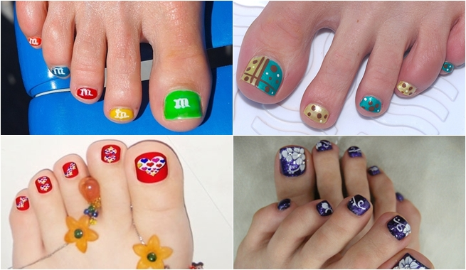 Divertidas y Bellas Imagenes de Uñas Decoradas de Pies