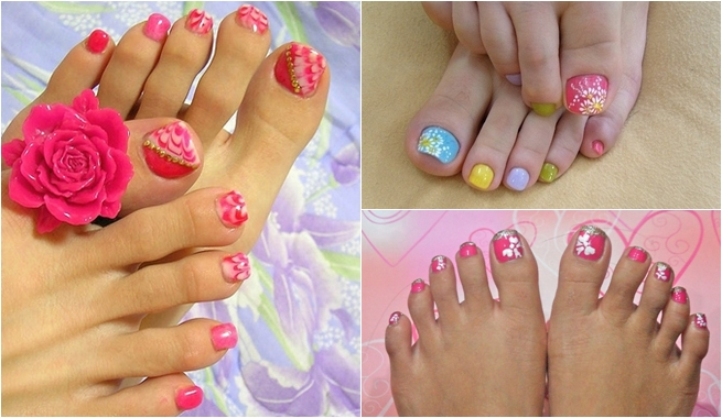 imagenes uñas decoradas pies