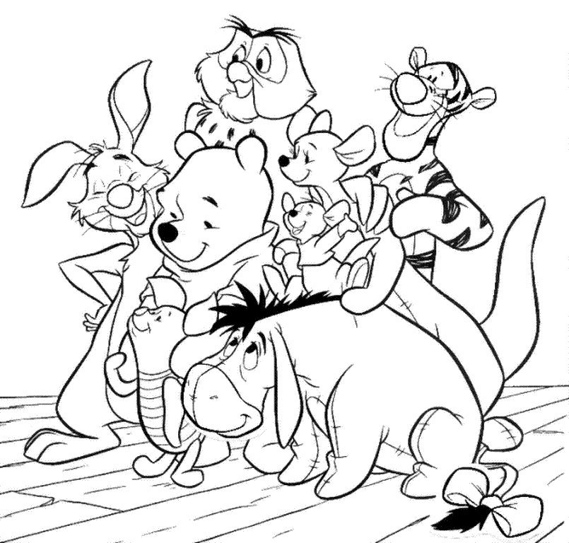 classic characters coloring pages - photo#17