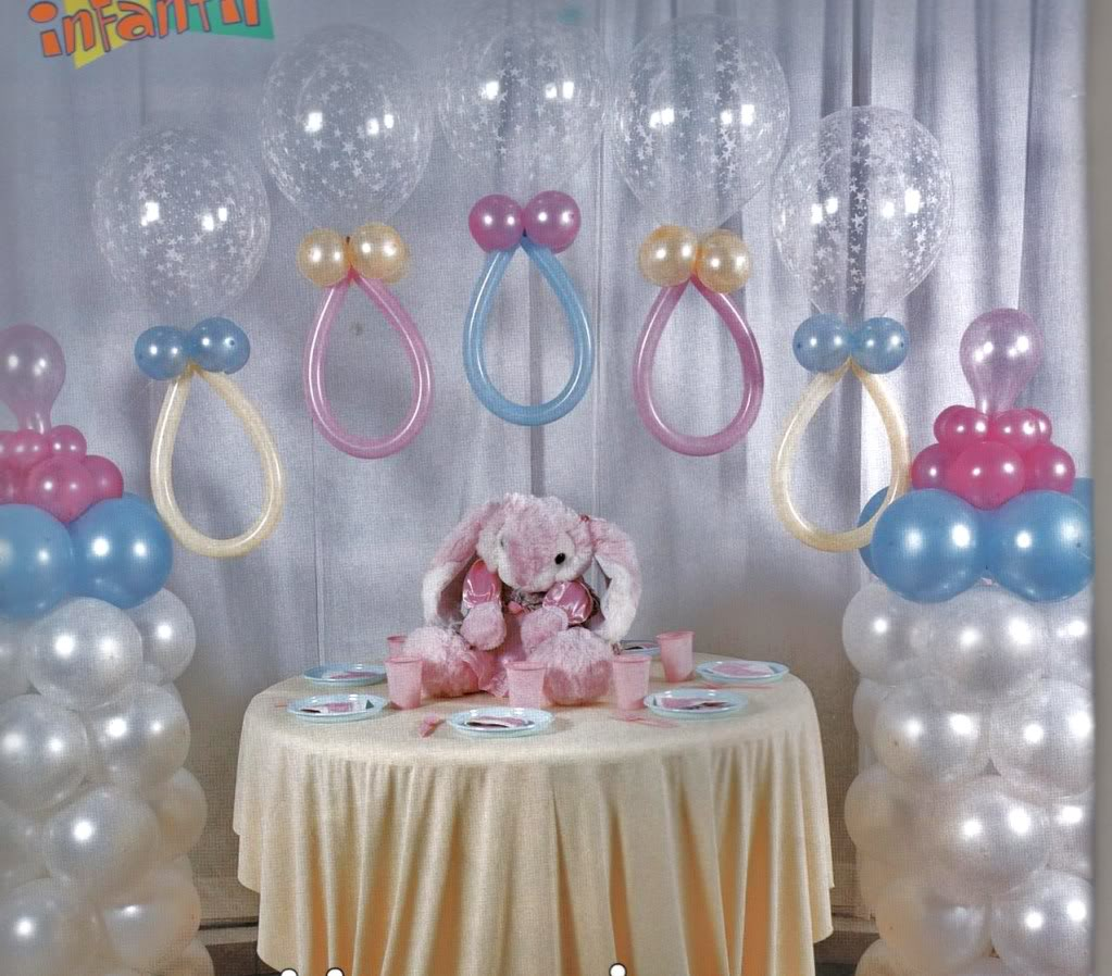 Manualidades Sencillas Para Baby Shower.Imagenes De Decoracion Con Globos Para Baby Shower Ideas