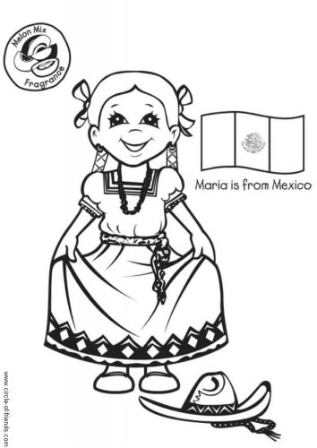 Free Mexico Coloring Pages