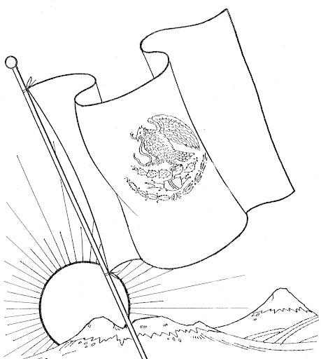 La Bandera De Mexico Para Dibujar