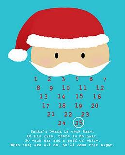 porque a nuestro peques les entusiasma la llegada de santa te traemos este bonito calendario con cara de santa claus para junto con ellos marquen los dias