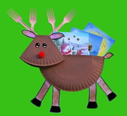 Como Hacer un Reno con Platos Desechables Para Navidad