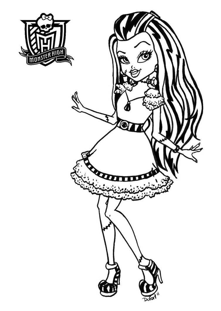 Dibujos para colorear de monster high ideas consejos for Monster high free coloring pages