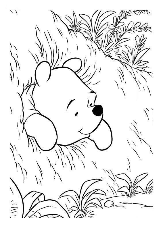 imagenes de winnie pooh para colorear