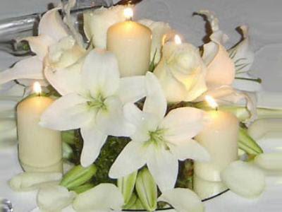 Imagenes de centros de mesas para bodas con velas ideas for Fotos de mesas de bodas