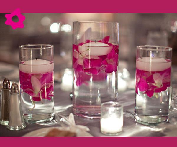 Imagenes de centros de mesas para bodas con velas ideas - Centros con velas ...