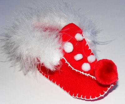 Como hacer zapatillas de elfo con fieltro para navidad « Ideas