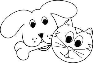 Dibujos Gratis Para Colorear De Perros Y Gatos Ideas