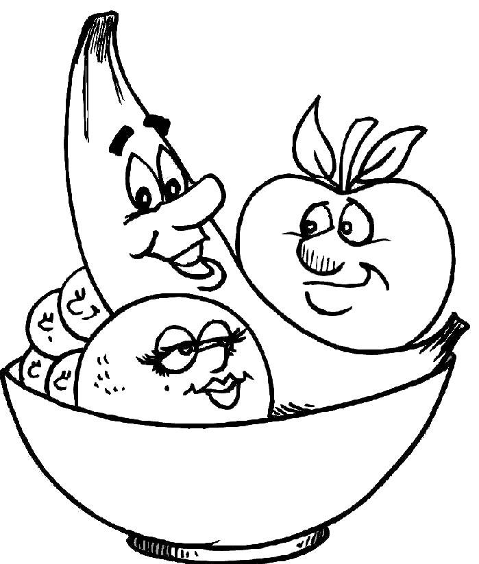 Dibujos Para Colorear De Frutas Y Verduras