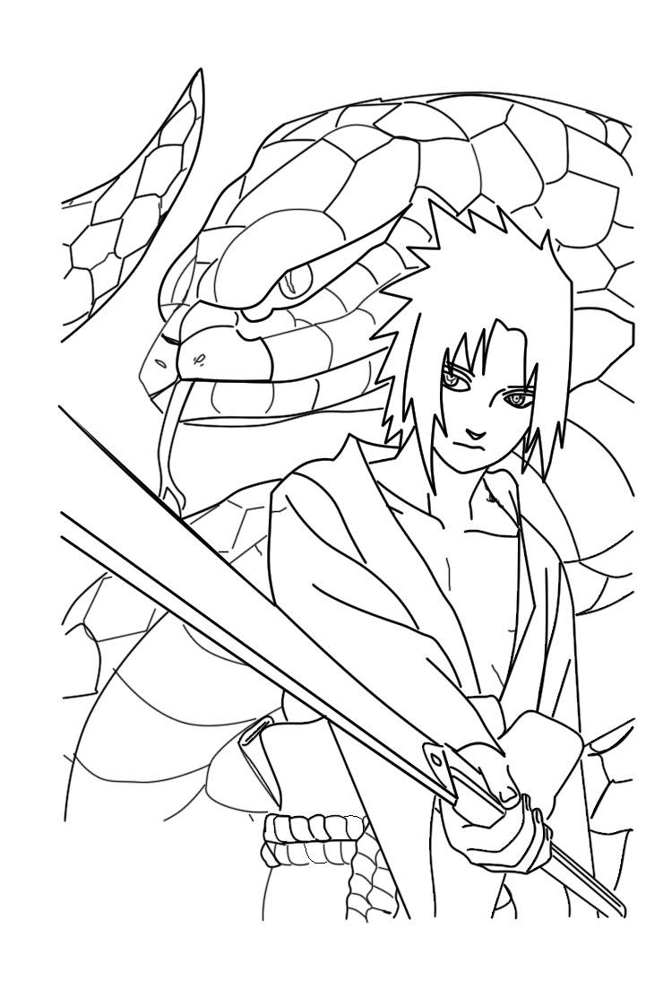 Famoso Páginas Para Colorear Naruto Adorno - Dibujos Para Colorear ...
