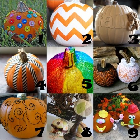 Ideas para halloween de como decorar calabazas ideas - Calabazas pintadas y decoradas ...