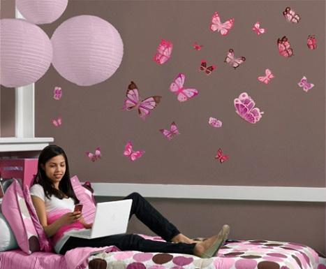 Como decorar paredes con mariposas ideas consejos - Mariposas decoracion pared ...