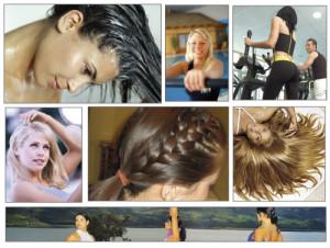 cuidado del cabello cuando se hace ejercicio