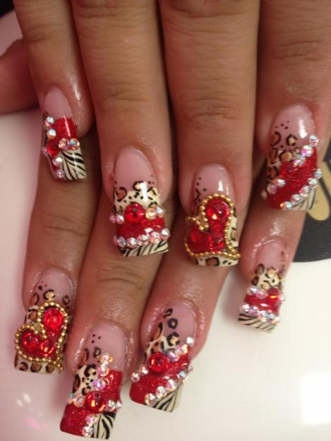 foto de uñas acrilicas