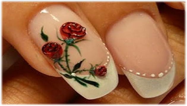 flores para decorar uñas