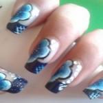 diseños de flores en uñas