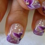 flores en uñas acrilicas