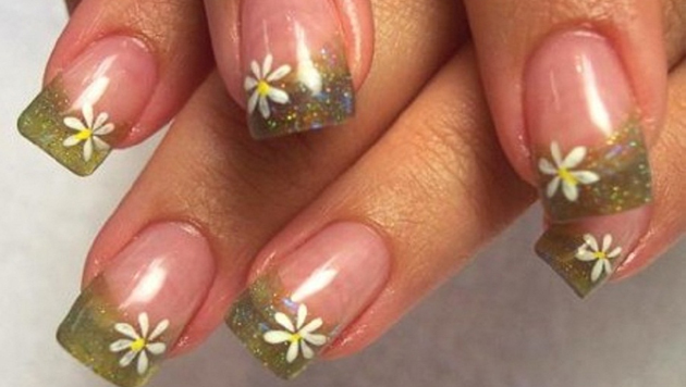uñas de gel decoradas flores