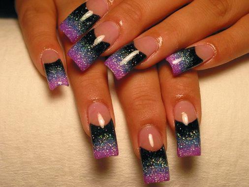 uñas decoradas con pintura acrilica