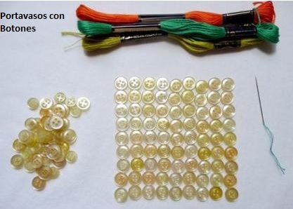 materiales para portavasos con botones