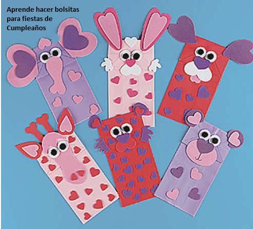 Como hacer bolsas para una fiesta de cumplea os ideas - Que hacer para cumpleanos infantiles ...