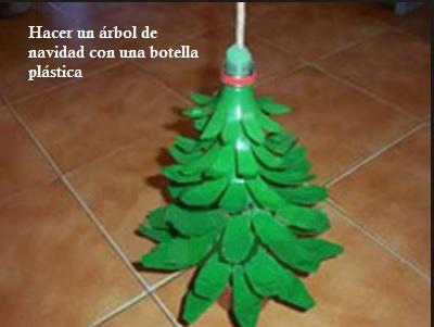 Hacer un árbol de navidad con una botella plástica