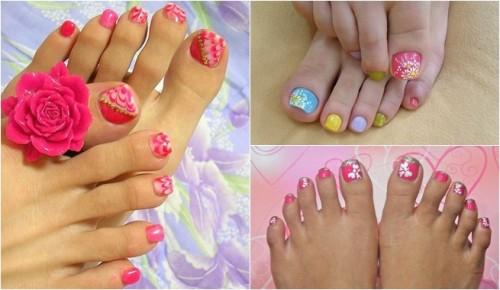 decoracion de uñas de pies para niñas