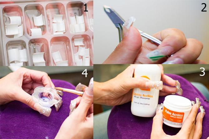 uñas acrilicas materiales