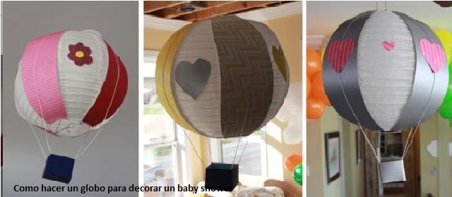 Como hacer un globo para decorar un baby shower