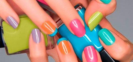 uñas decoradas con esmalte