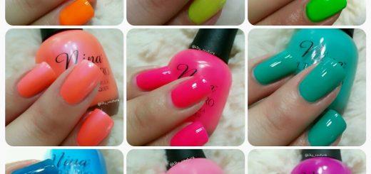 esmaltes de uñas neón